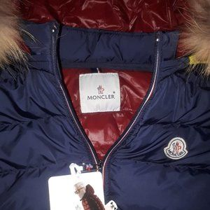 MONCLER WOMEN NAVY BLUE VEST